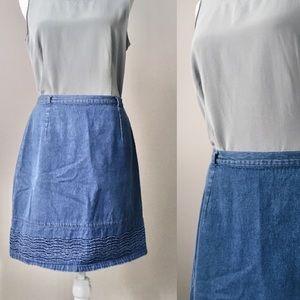 Vintage 90s Route 66 Denim Skirt
